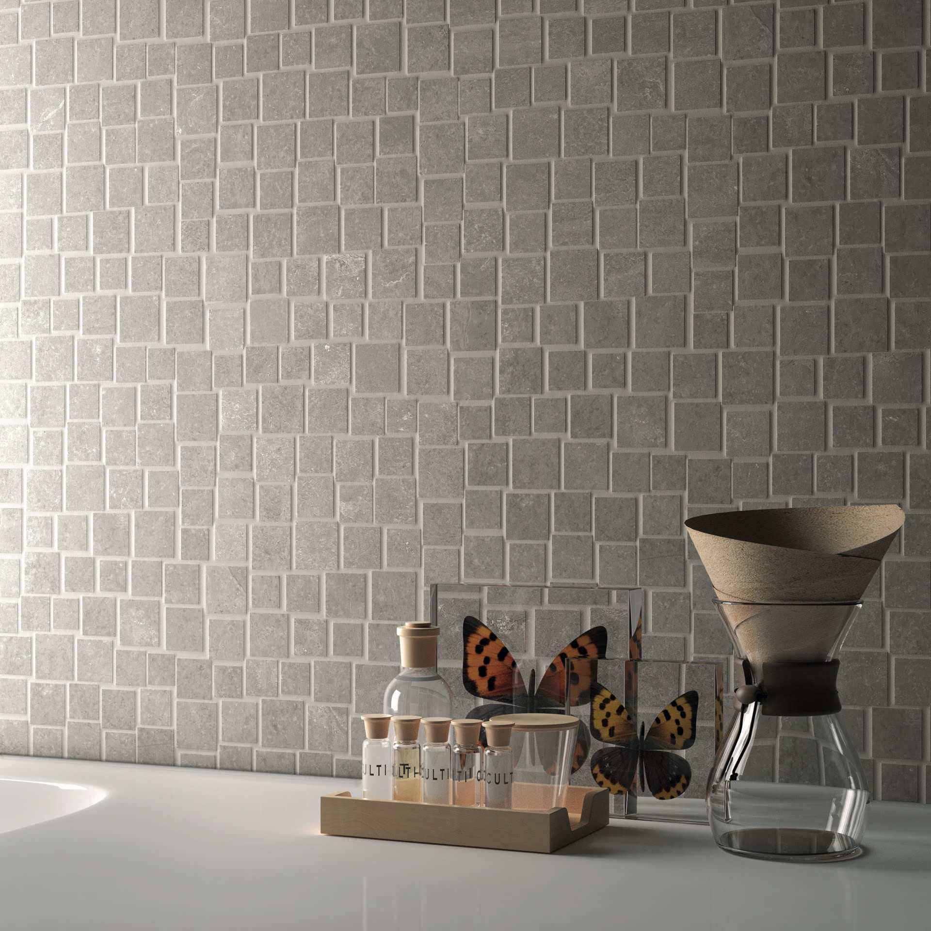 Groove Bright Grey Mosaico Penta Part. Farfalle