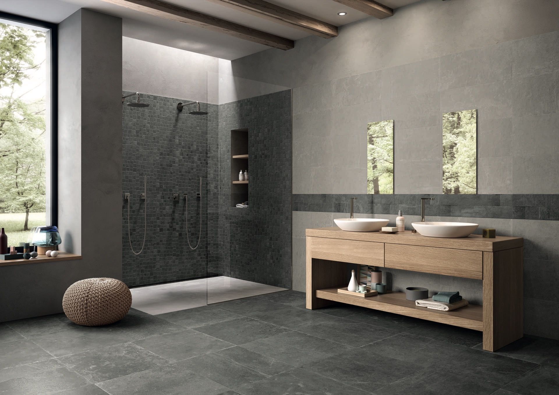 Grove Mistique Black - Bright Grey Amb. Bagno