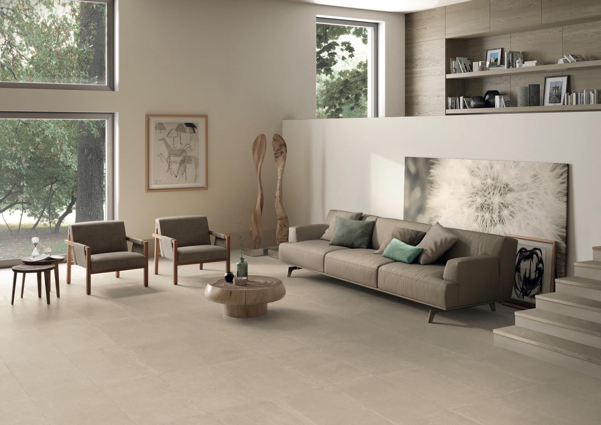 Limestone Beige 45x90 Amb Living