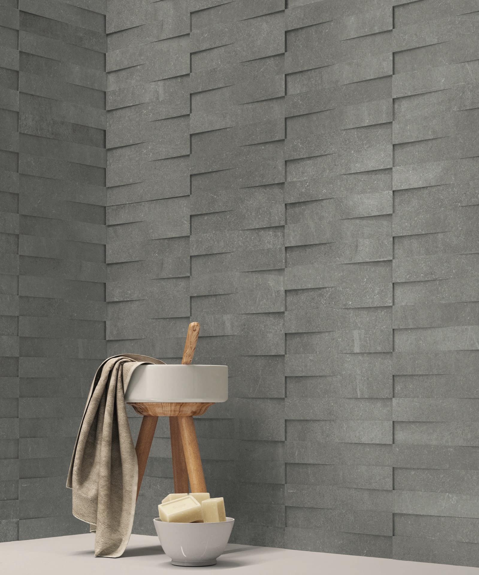 Limestone Light Particolare Modulo Bagno doccia