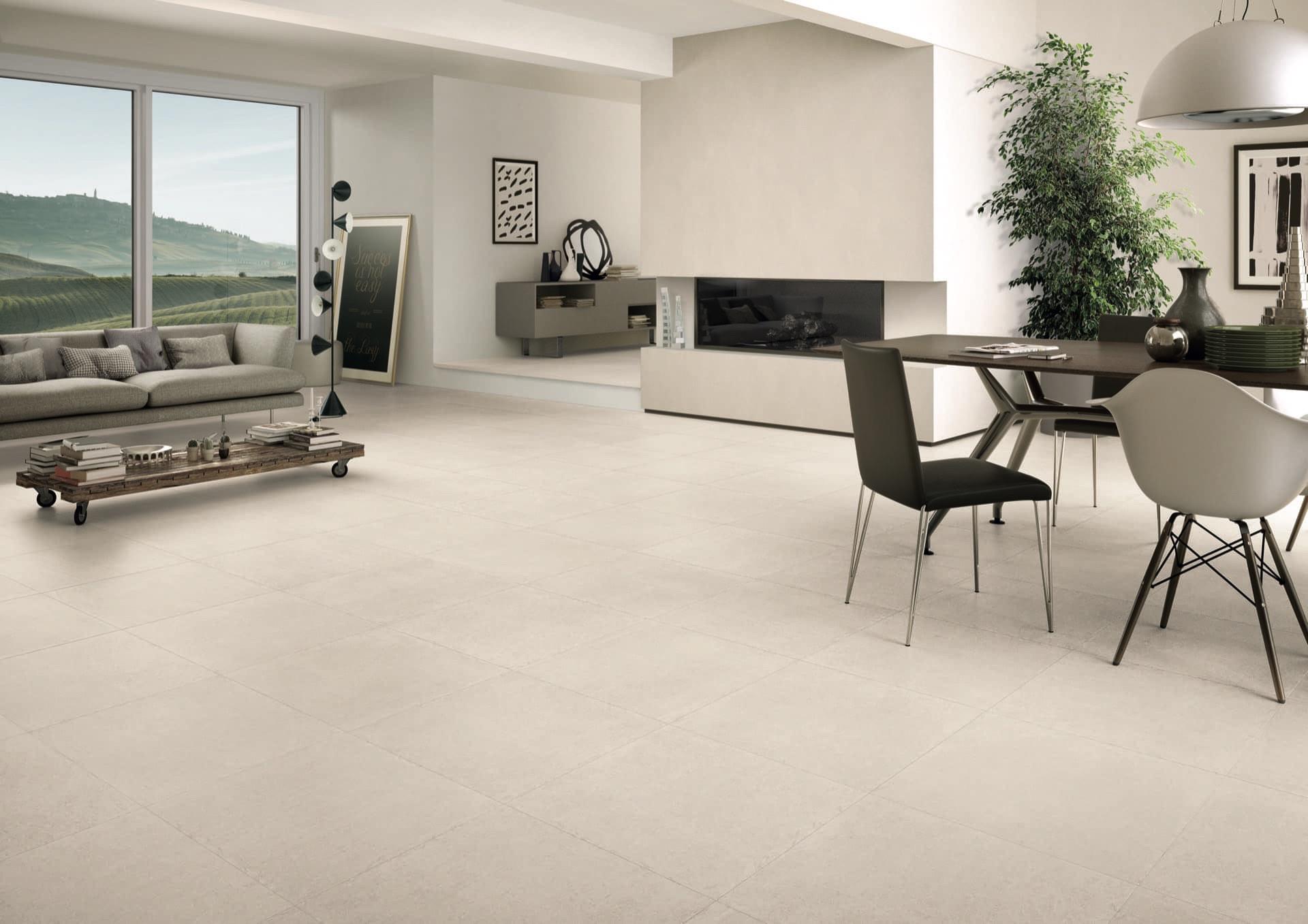 Limestone White 60x60 Amb Living