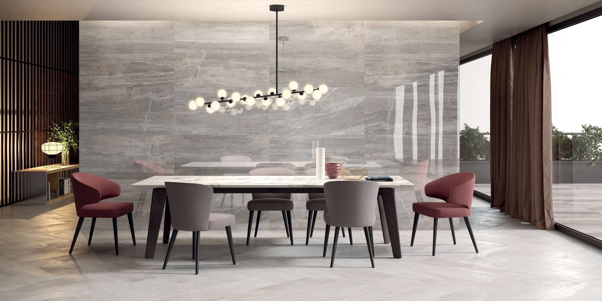 Pearl 30x120 + Sensi Arabesque Silver Lux+ 60x120