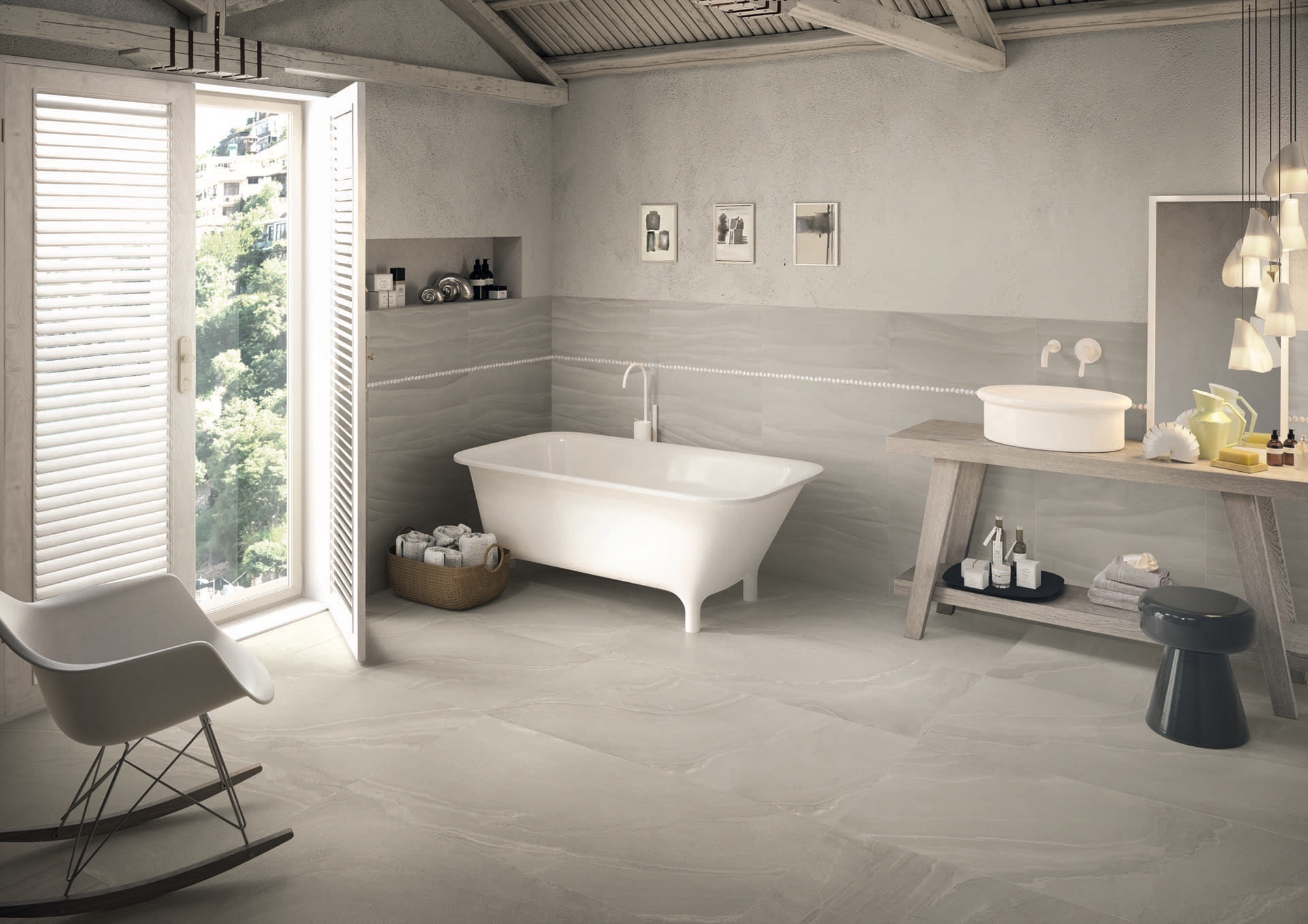 Zerodesign Asian Grey 60x120 Amb Bagno