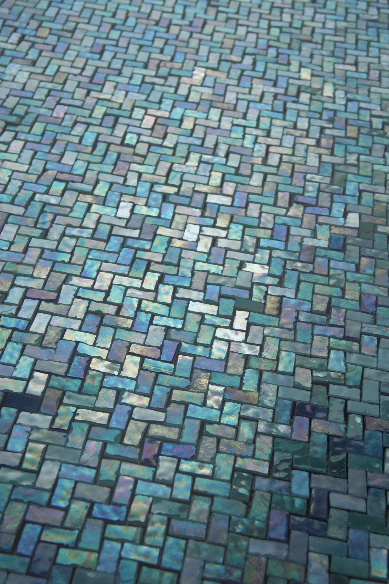 Zerodesign Mosaico Mare Lusstrato Verde Azzurro 31,6x31,6 Pav