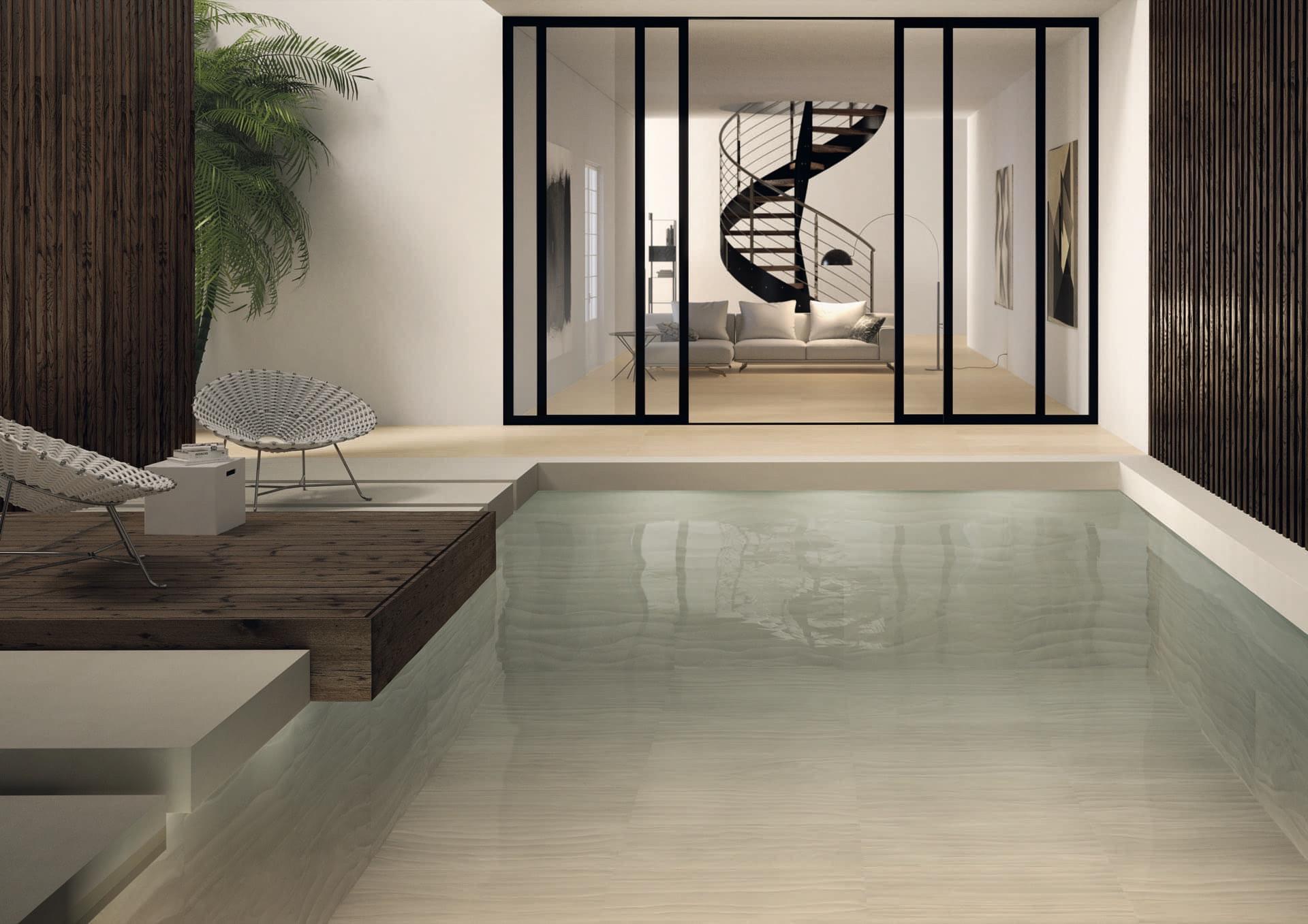 Zerodesign Thar Beige Naturale 69x120 Amb Esterno Piscina