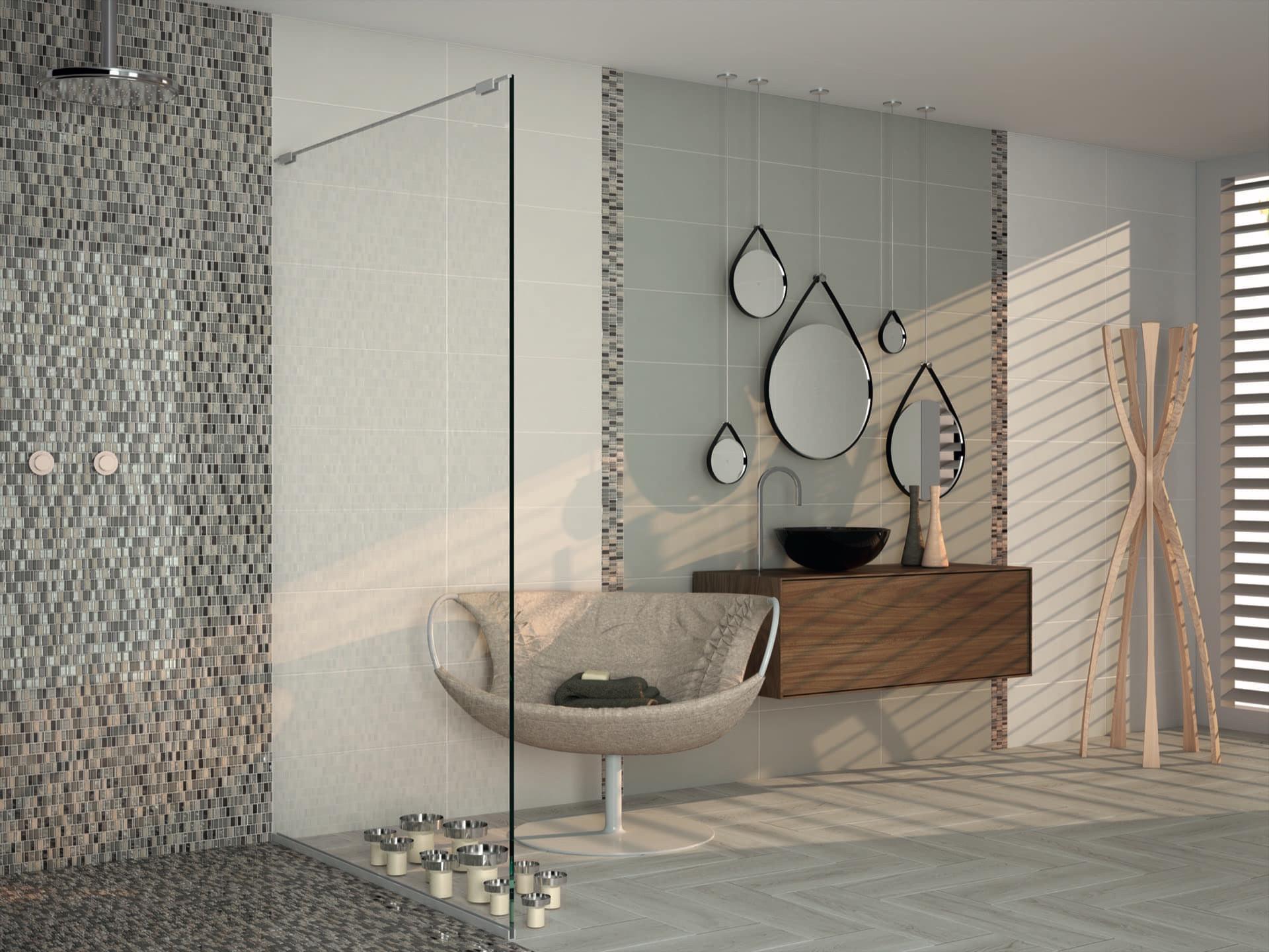 Amb Open pearl grey mosaico Drops