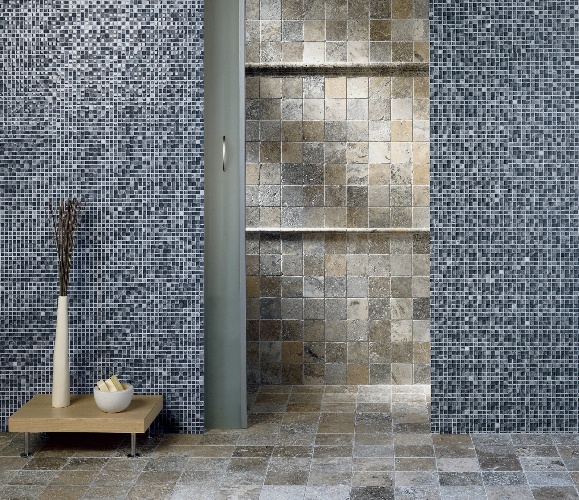 Mosaico Trav grey-glass