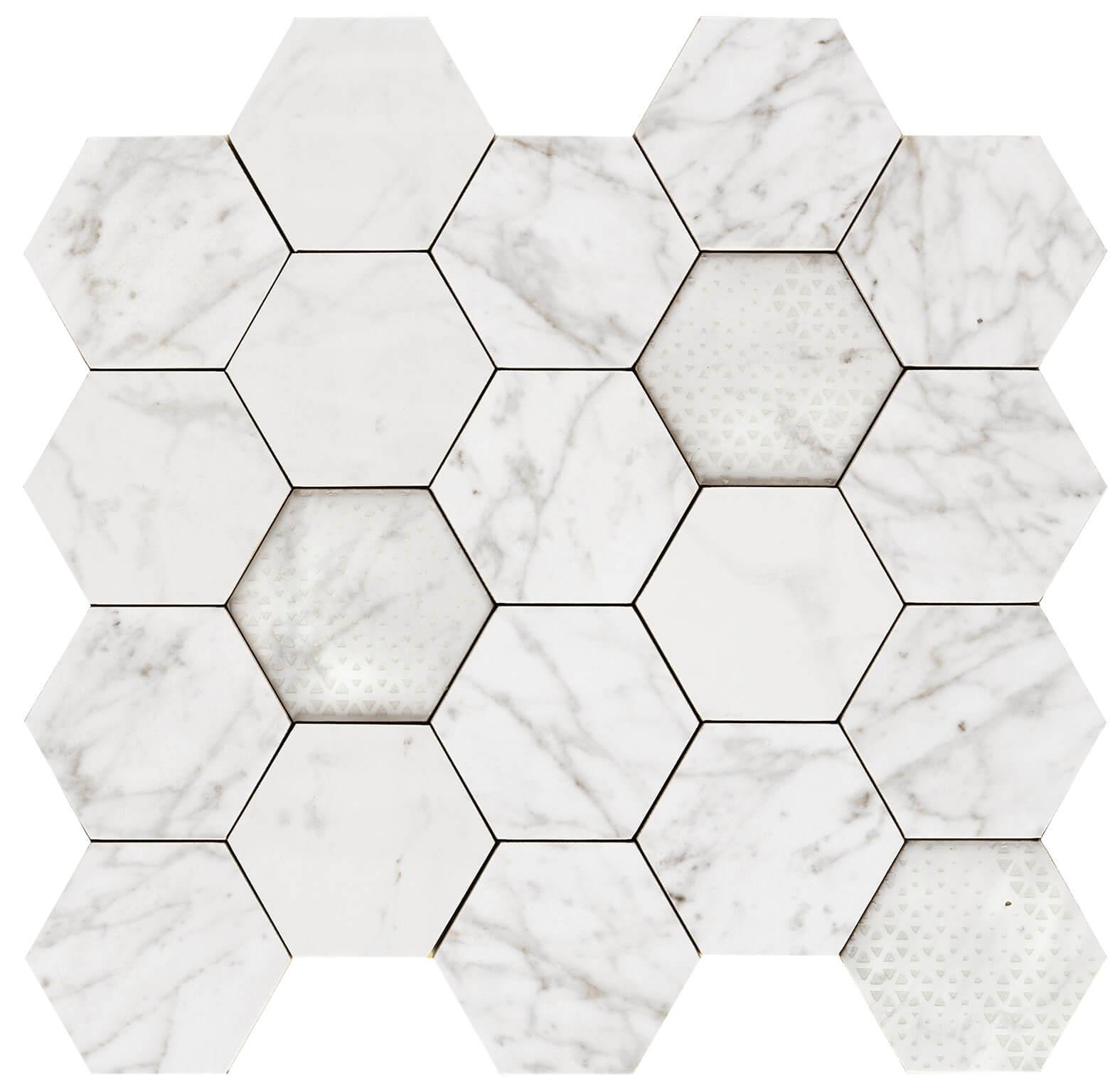 Hexagon apuanian white lev 1