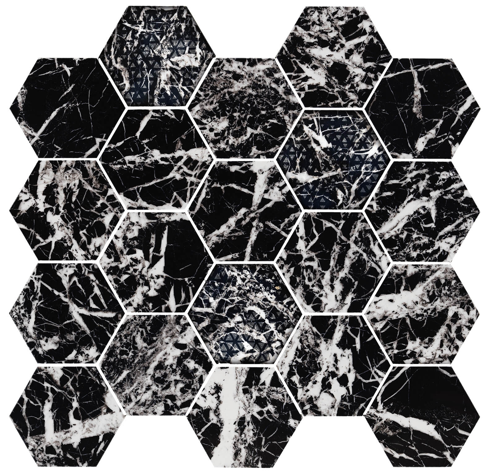 Hexagon glam black lev 1