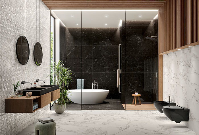 PAN-eternity-arabesquepearl-lux-10mm-mosaicokubic-10mm-marquinablack-lux-10mm-bathroom-001